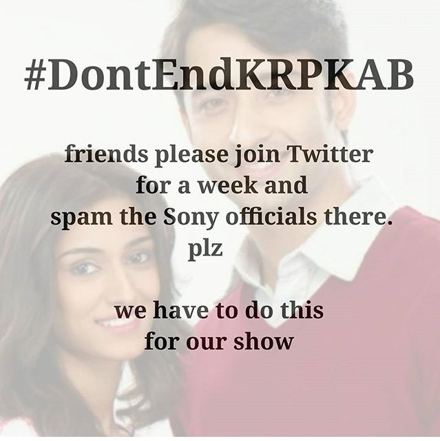 @EricaClub #DontEndKRPKAB plz mercy on us for the God sake  plz don&#39;t ignore #sony tv take right decision give our show  plz give our world <br>http://pic.twitter.com/GSF9xb0djL