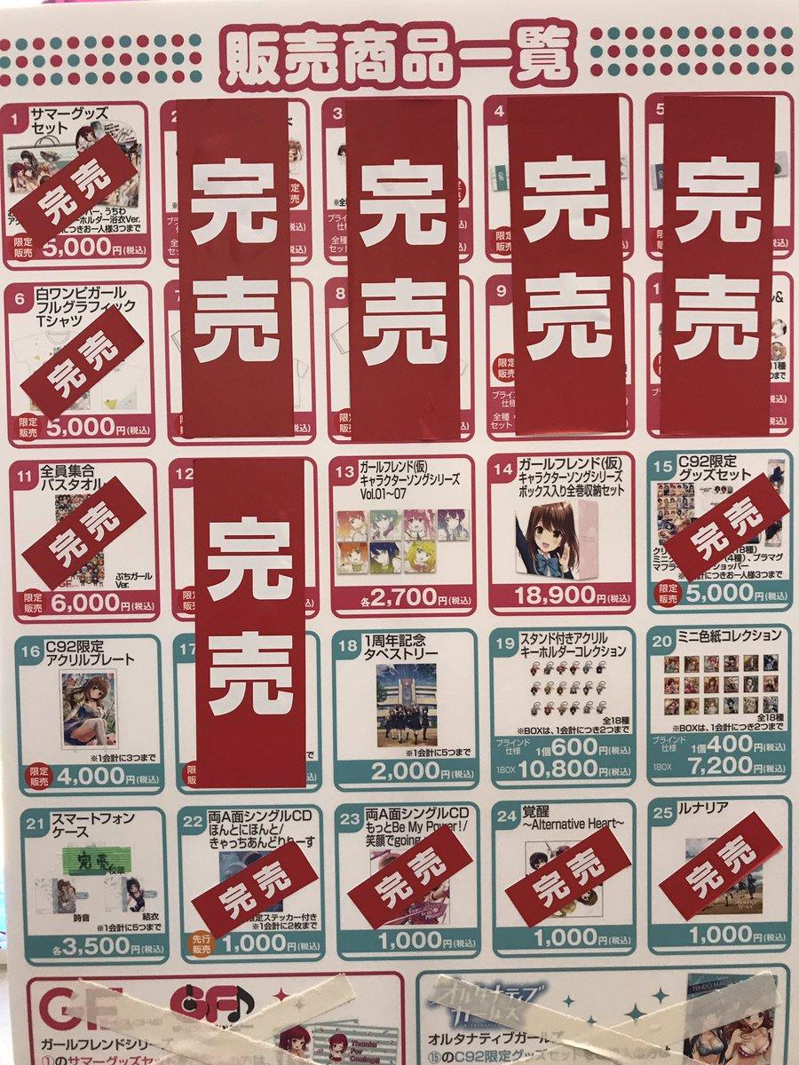 【コミックマーケット92グッズ完売情報】白ワンピガールフルグラフィックTシャツは完売いたしました。こ…