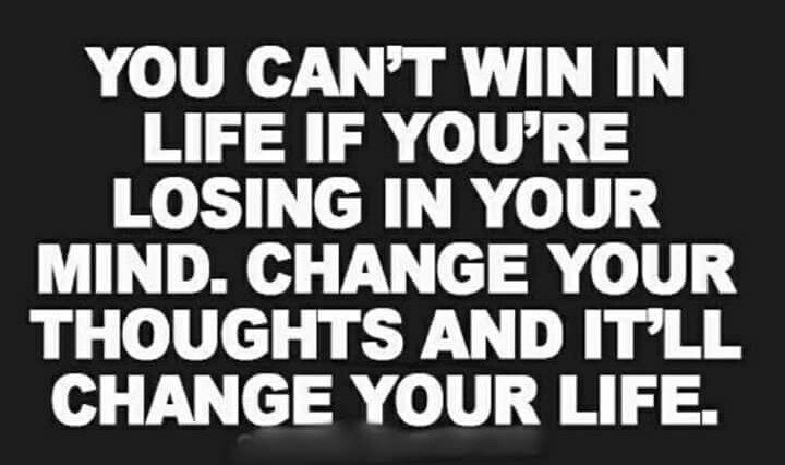 You can&#39;t #win  in life if you&#39;re losing in your #mind change your #thoughts  and it&#39;ll change your mind #ThinkBIGSundayWithMarsha<br>http://pic.twitter.com/uOYb2yr0kA