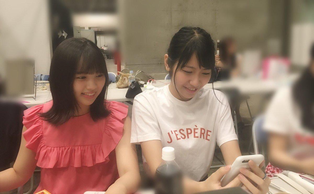 広瀬すずちゃんのラインライブに必死にハートを送る山下エミリー。(HKTメンバー)  わたしがすずちゃ…