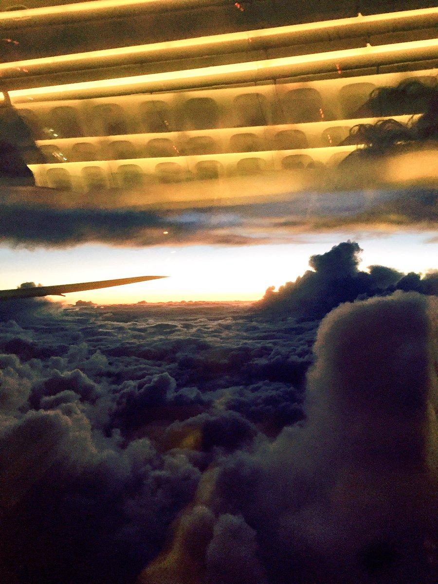 昨日のRSRからの札幌帰りの飛行機からの景色が完全に桃源郷だった。 雲の上の異世界。