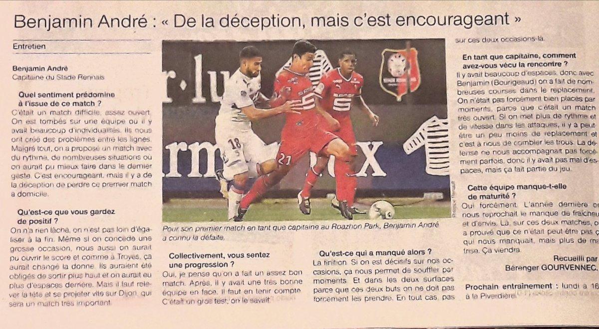 Entretien avec Benjamin André capitaine du #SRFC  après #SRFCOL pic.twitter.com/ruvxa4qCyO