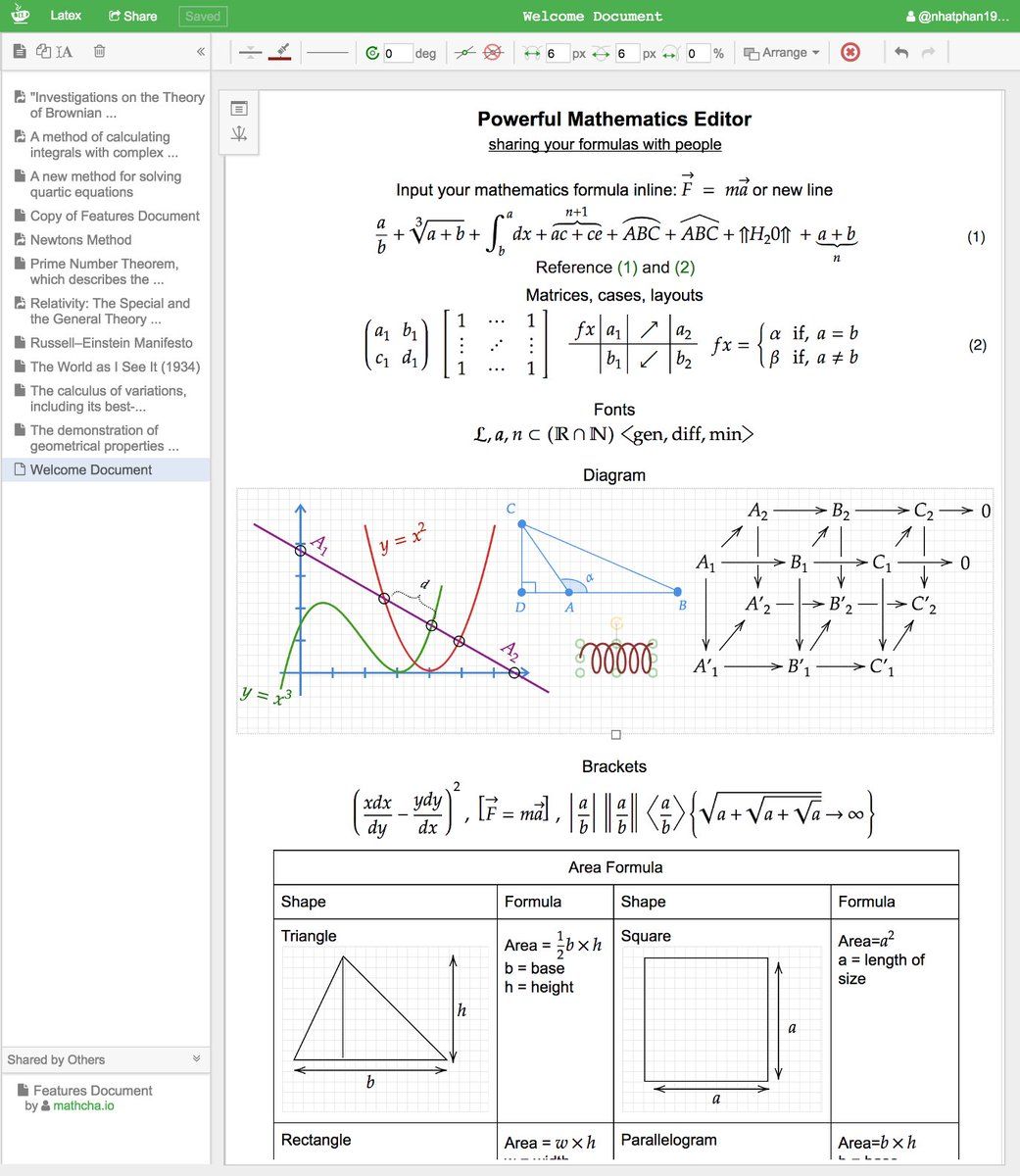 Online Mathematics Editor mathcha.io #math