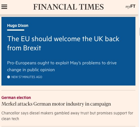 Pro-European Brits should campaign to stop Brexit rather than for a soft one. My @FT column https://t.co/SfP1GUVdzZ