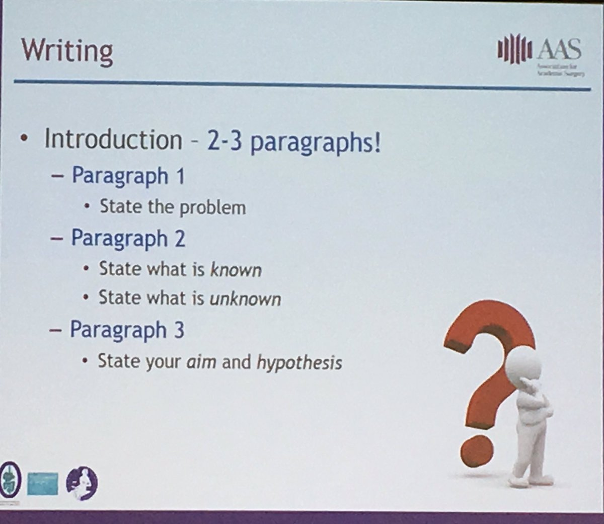 RT @jdimick1 &quot;How to write a paper in 4 slides by @kibbemr! @AcademicSurgery <br>http://pic.twitter.com/GMJ3XlOqNr&quot; #medcomms