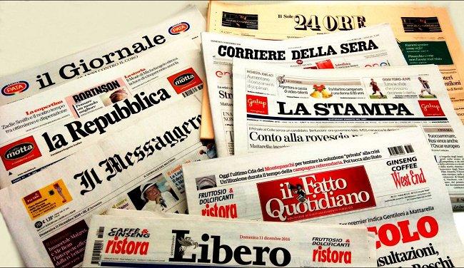 Fotorassegna stampa, le prime pagine dei #quotidiani di domenica #13ag...