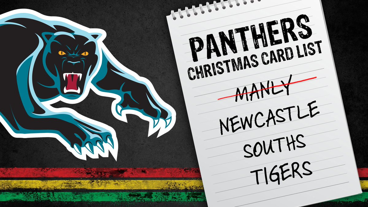 Updated. #NRLTigersManly #pantherpride 🐾 https://t.co/PayizVty47