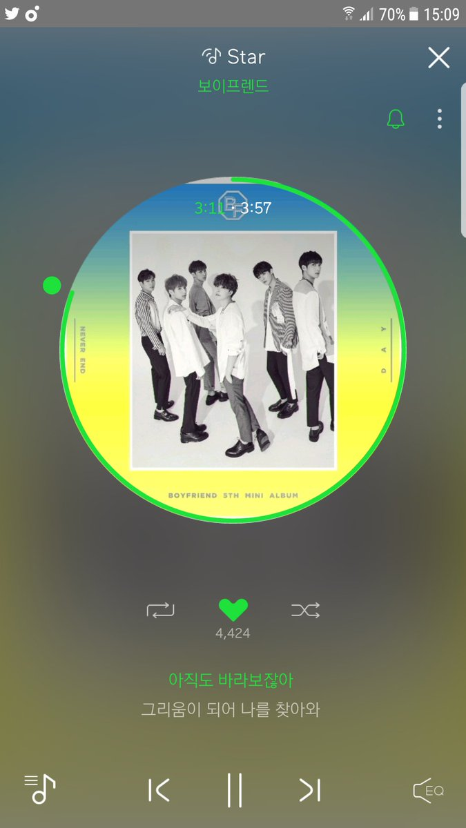 I used my phone to stream #NEVER_END in Melon and my PC to listen to Summer. Need to listen to other songs, not just #STAR #보이프렌드<br>http://pic.twitter.com/TWe5qWFaJR