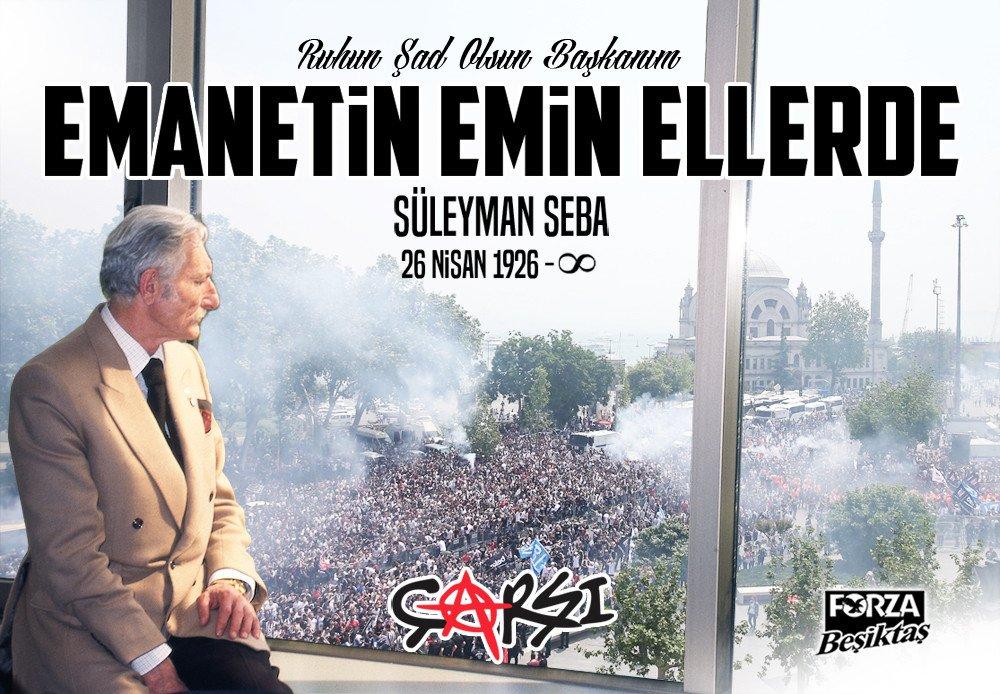 Rahat uyu Başkanım. Beşiktaş'ın bizlere emanet #SüleymanSeba https://t...