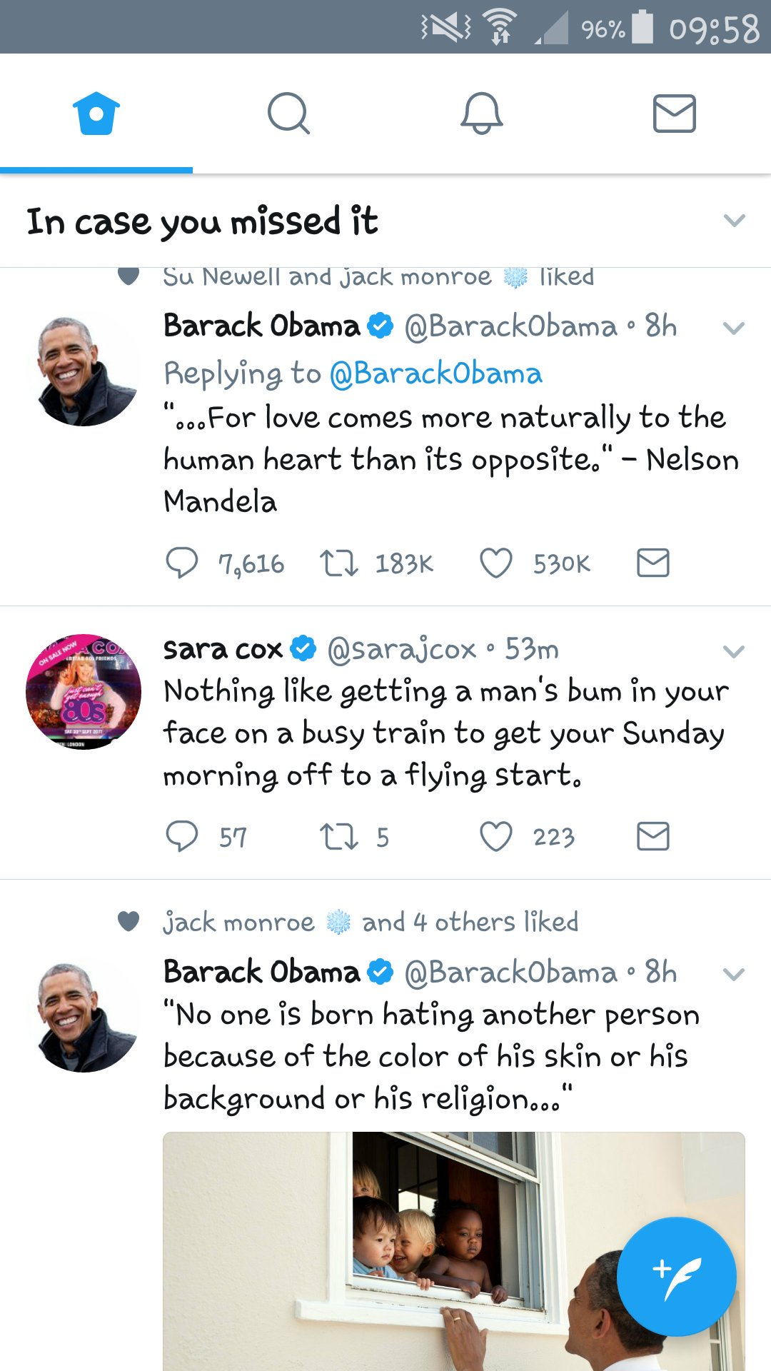 RT @Gilcent: This morning I find @sarajcox the filling in a superb @BarackObama sandwich... ❤ https://t.co/vhWtkbttBh