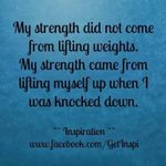 My strength came from lifting myself up when i was knocked down #DV #CSA #Abuse #SurvivorRealm @PCKJ3627 @patriciasinglet @DVRisingPhoenix