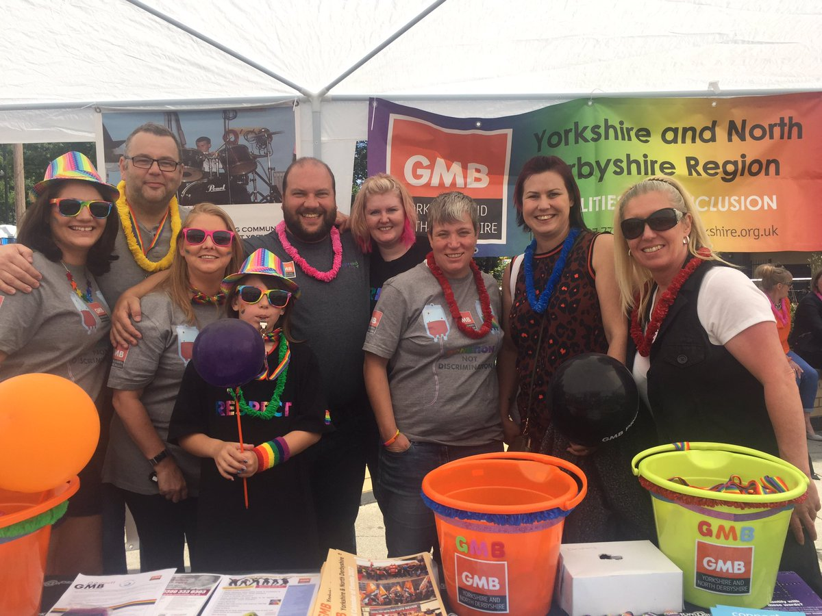 Celebrating #WakefieldPride with @gmbyoungyorks and @GMB_union #family<br>http://pic.twitter.com/Yp9HoNHlTh