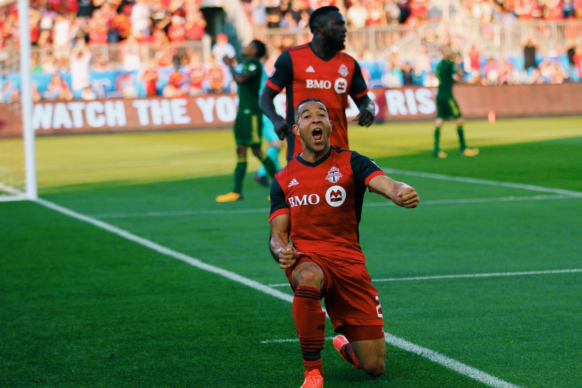 Back from the national team, back on the scoresheet (x2)  @justmorrow meets the media  :  http:// bit.ly/2wGizyK  &nbsp;    #TFCLive | #TORvPOR <br>http://pic.twitter.com/c6UHtGB9lz