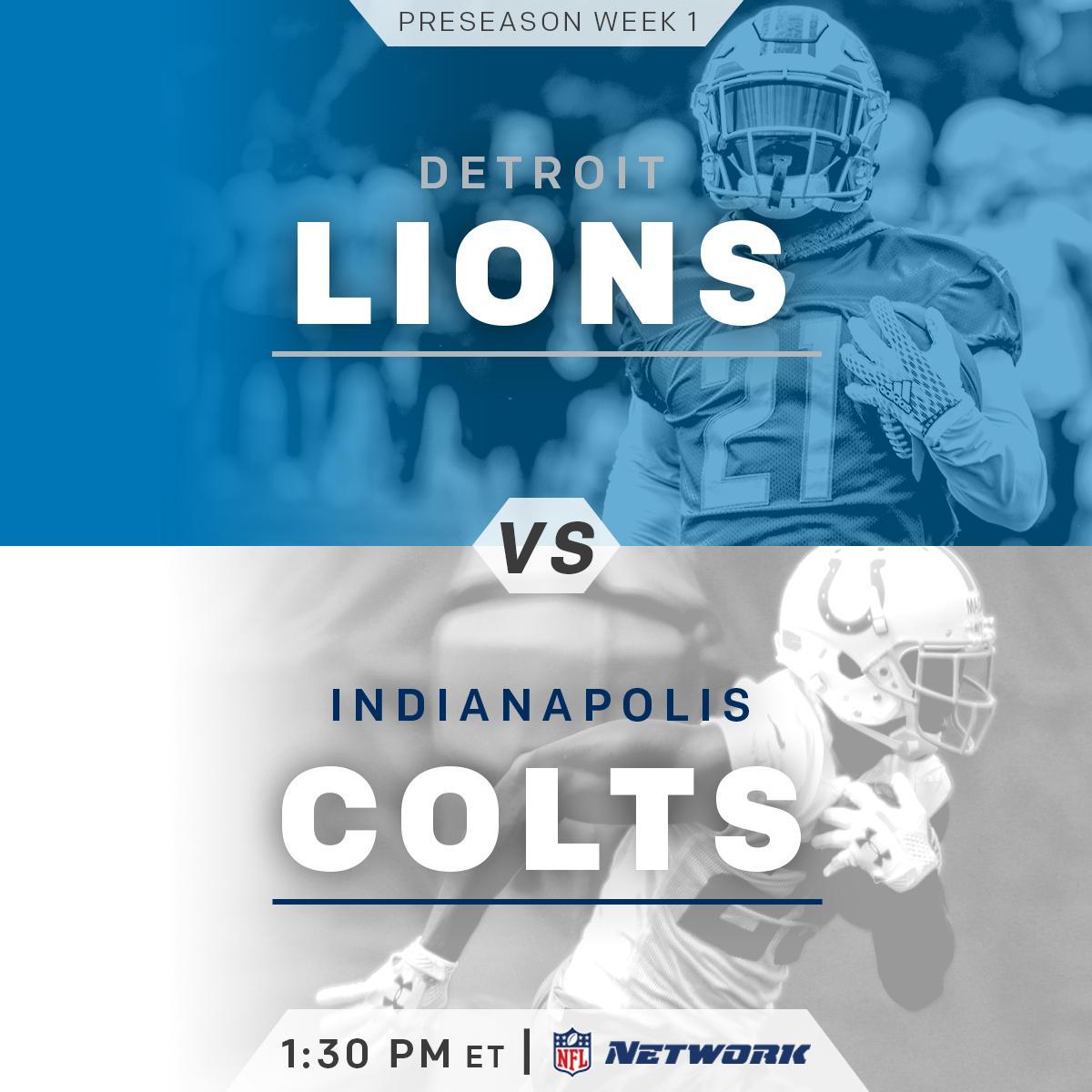 Sunday Football is HERE!  @Lions. @Colts. 1:30pm ET on @nflnetwork! #DETvsIND https://t.co/oK9sUIOaLt