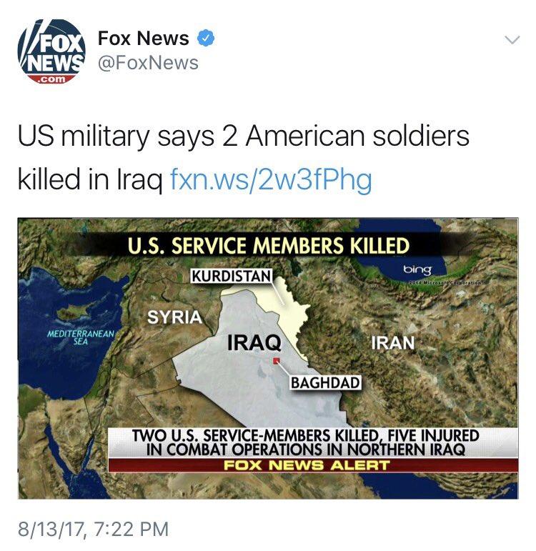 Baxtiyar Goran On Twitter FoxNews Reporting On Iraq - Fox news us map