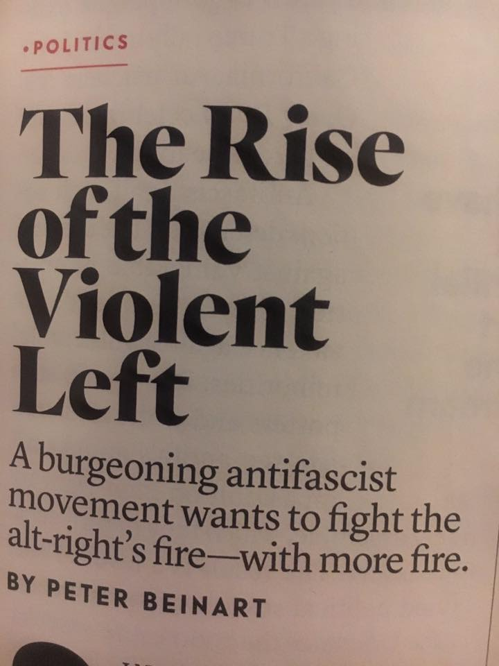 Картинки по запросу The rise of the violent Left beinart