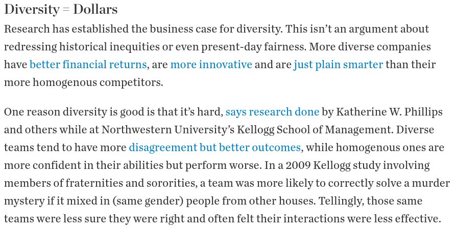 """the business case for diversity james The """"business case for diversity"""" is less compelling than other reasons rooted in social justice, equal opportunity, and corporate reputation."""