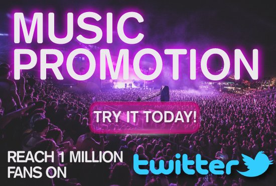 Reach +1 Million Fans &amp; #musiclovers   Get Exposure for your #Music or #Artist &#39;s Website   https://www. fiverr.com/twittmarketing /promote-your-music-with-my-music-twitter-with-476-000-fans &nbsp; … <br>http://pic.twitter.com/je4GlqYRes