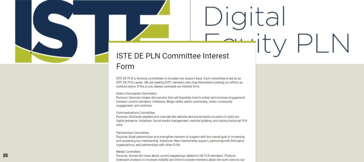 Attention all #ISTE members: now seeking #ISTEDEPLN subcommittee members:  https:// buff.ly/2wAFgV5  &nbsp;   #ISTE17 @isteconnects #edumatch #education <br>http://pic.twitter.com/1z44sgLU9T