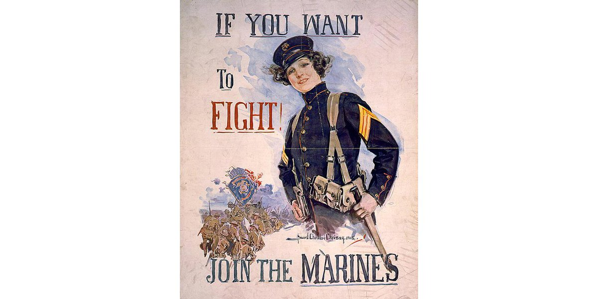 On this day 99 years ago, Opha May Johnson became the first woman to officially enlist in the Marine Corps.