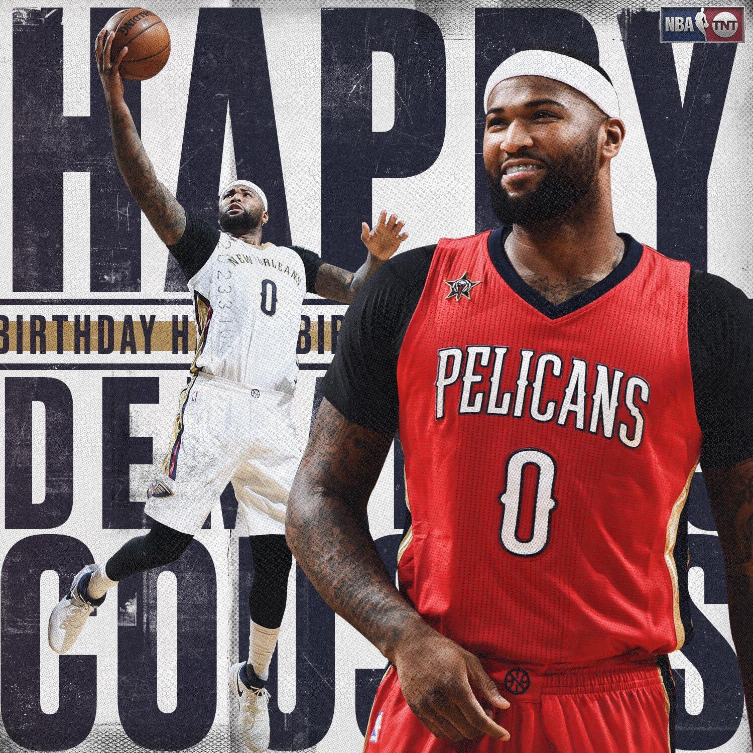 Happy Birthday to the 3-Time NBA All-Star, DeMarcus Cousins!