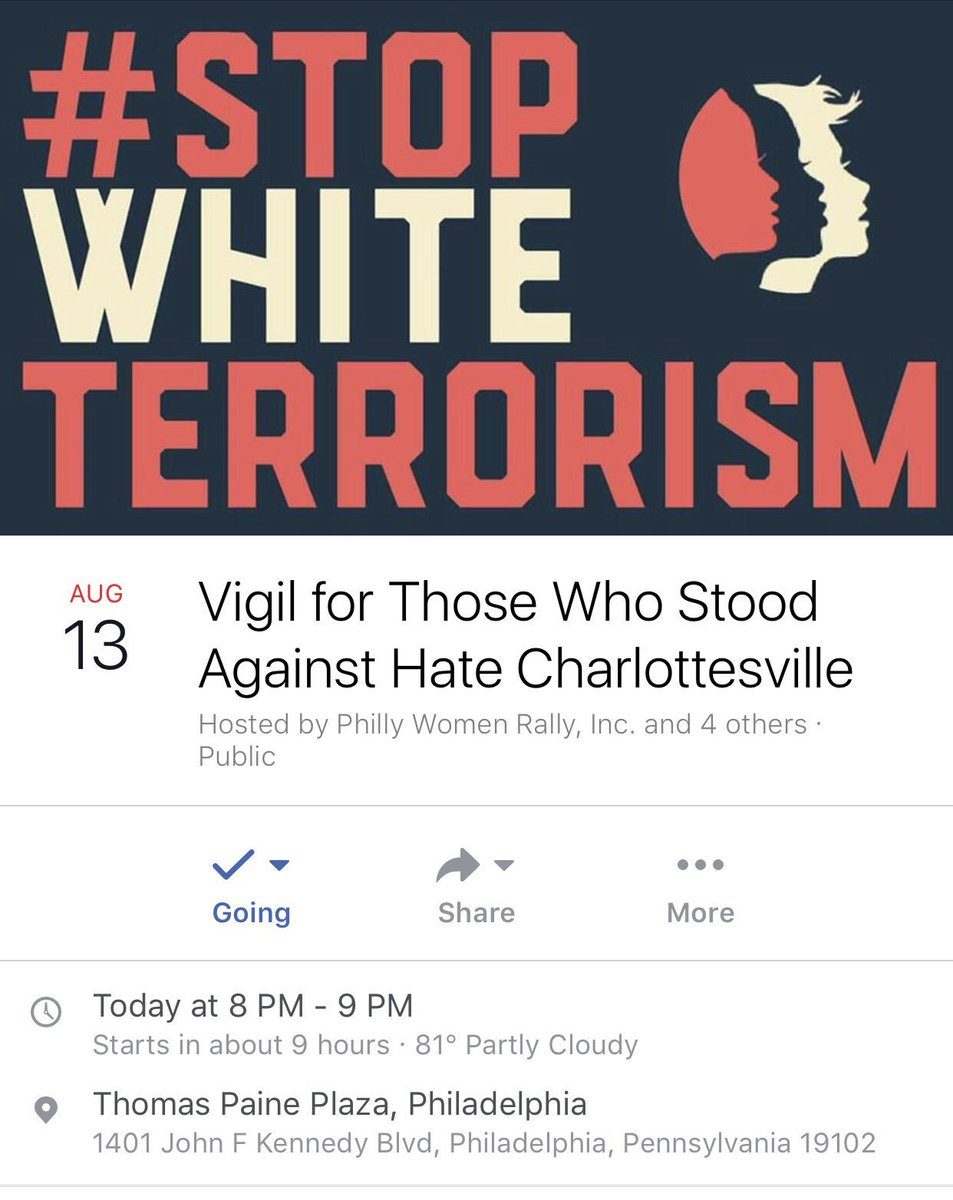 Join us, @womensmarchpa, #marchfortruth, @1PhillyUP, #BlackLivesMatter  &amp; more in solidarity w&#39; #Charlottesville,  https://www. facebook.com/events/2646545 60699982 &nbsp; … <br>http://pic.twitter.com/Ht29ZPpjp6