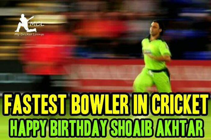 Happy Birthday Shoaib Akhtar