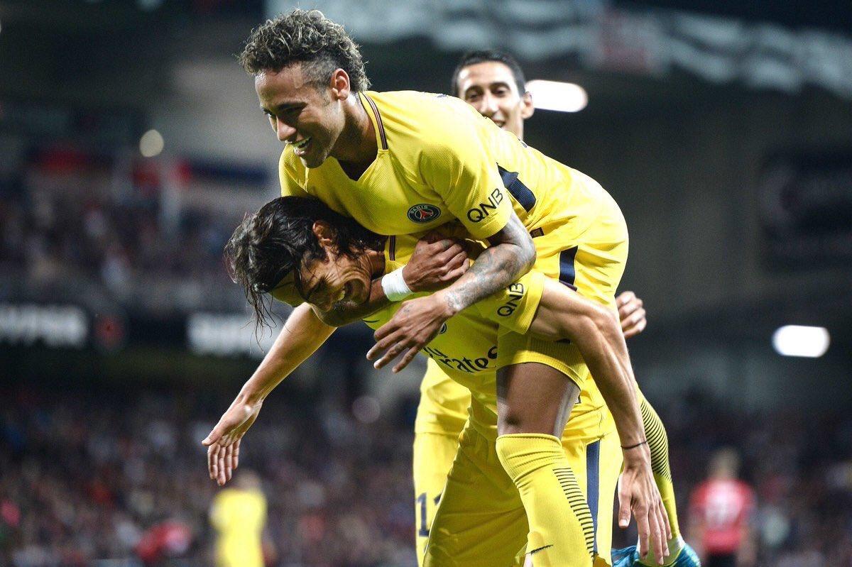 """#Neymar :""""Les gens pensent qu'on meurt en quittant le Barça. Moi je suis plus vivant que jamais ici. Je suis très heureux."""" #EAGPSG pic.twitter.com/hDhXcajjNe"""