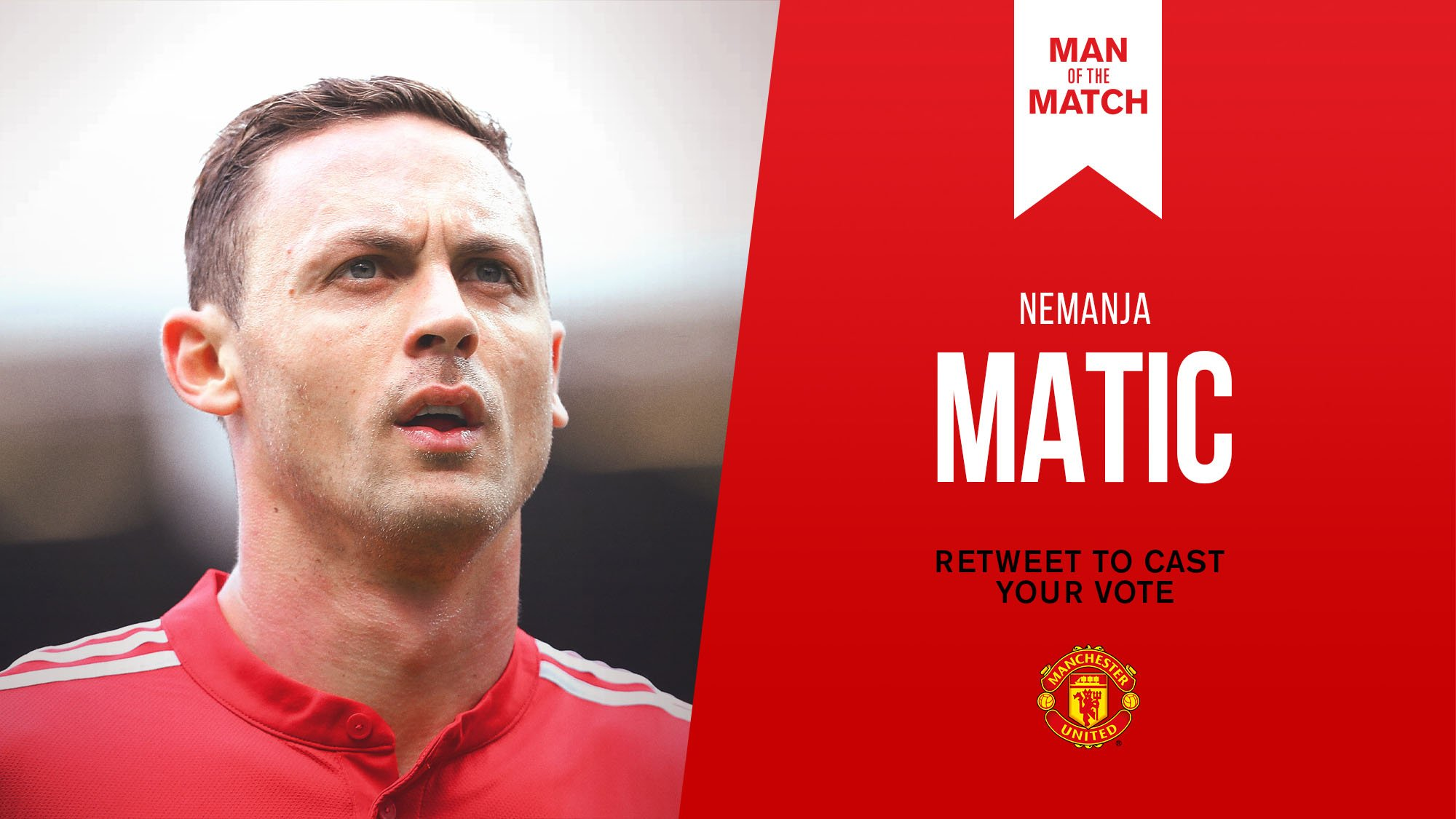 Retweet to vote for Nemanja Matic as #MUFC's Man of the Match against West Ham. https://t.co/bB7sHBmx51