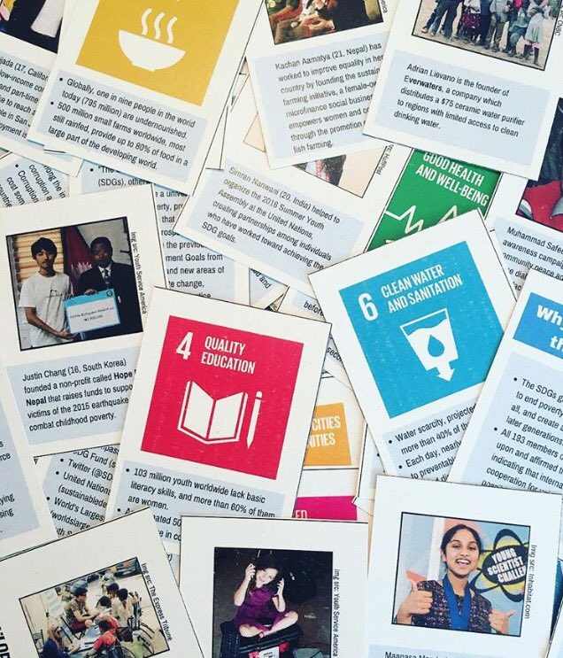 Looking for a simple way to #TeachSDGs this year? Start with these printable #GlobalGoals cards via @participate:  http:// bit.ly/2uq4N1H  &nbsp;   <br>http://pic.twitter.com/bc6Z7tcAYz