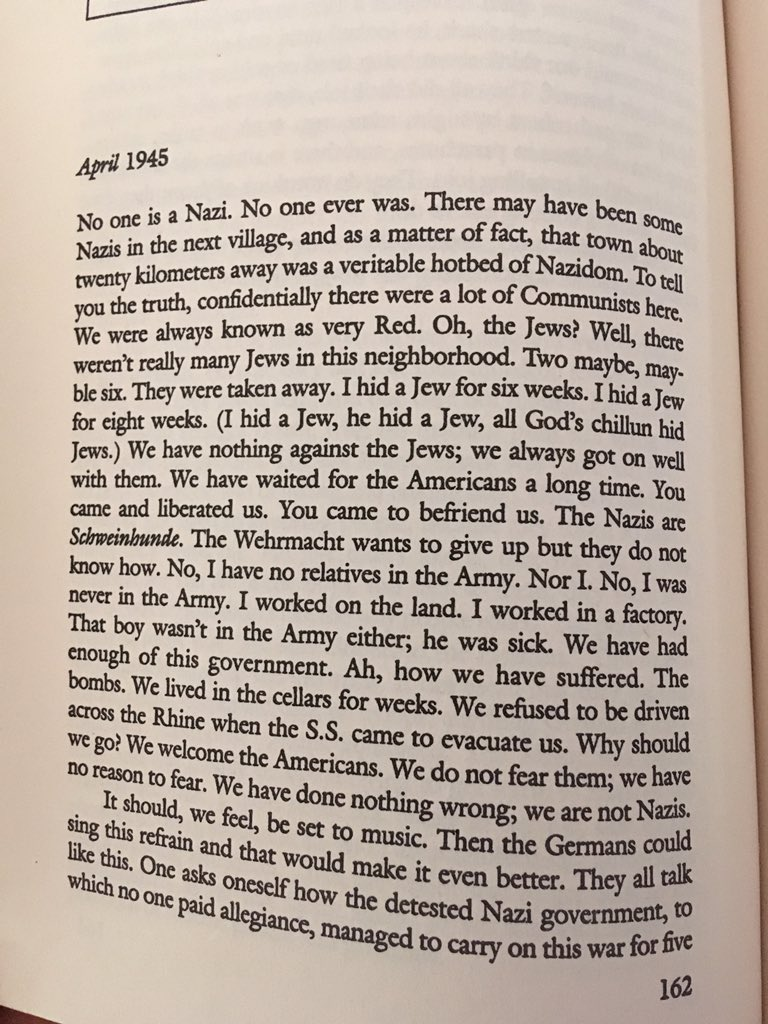 @meakoopa Martha Gellhorn reporting from Germany, April 1945 https://t.co/BME645W21N