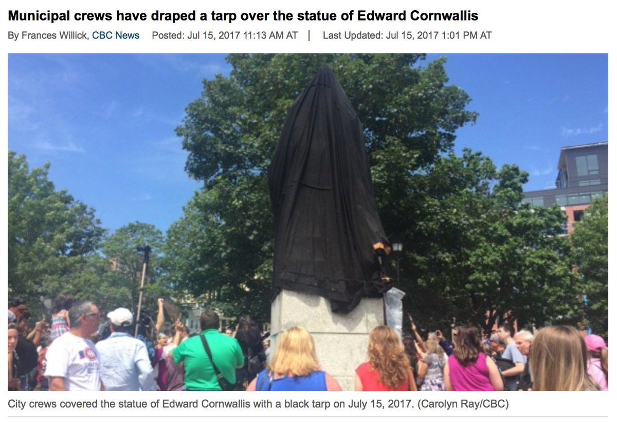 Remove, Enshroud ALL #HateStatues – Permanently #RobertELee #Cornwallis #endGenocide #endRacism #decolonize #PGTBeauregarde #Charlottesville<br>http://pic.twitter.com/EvIOtG6qWU