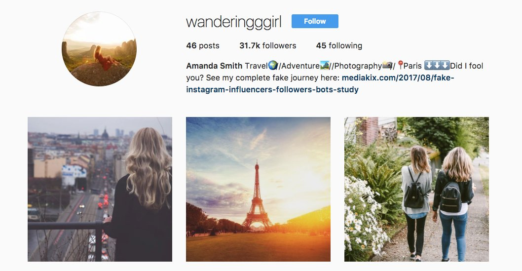 This fake Instagram &quot;influencer&quot; account made money posting nothing but free stock photos      http:// slct.al/2vStsAd  &nbsp;   #nice <br>http://pic.twitter.com/9OdQU6NiUN