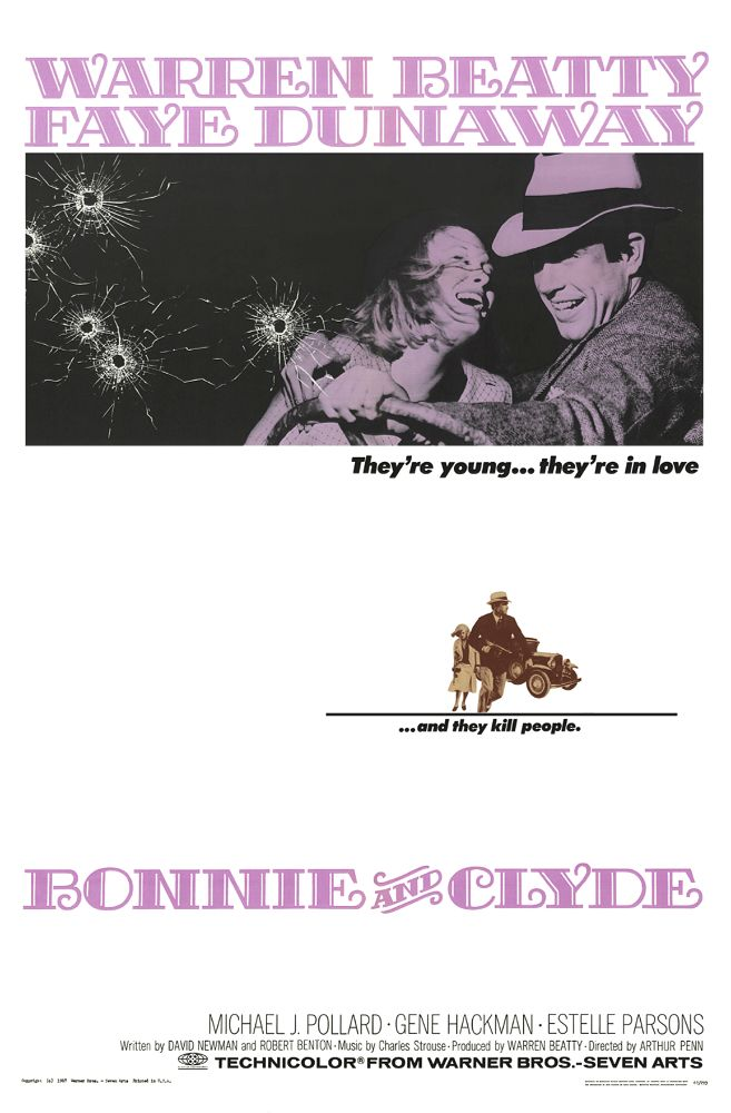 &quot;Bonnie and Clyde&quot; starring #WarrenBeatty and #FayeDunaway hit theaters 50 years ago today.  Directed by #ArthurPenn <br>http://pic.twitter.com/tVK5qSL2Cl