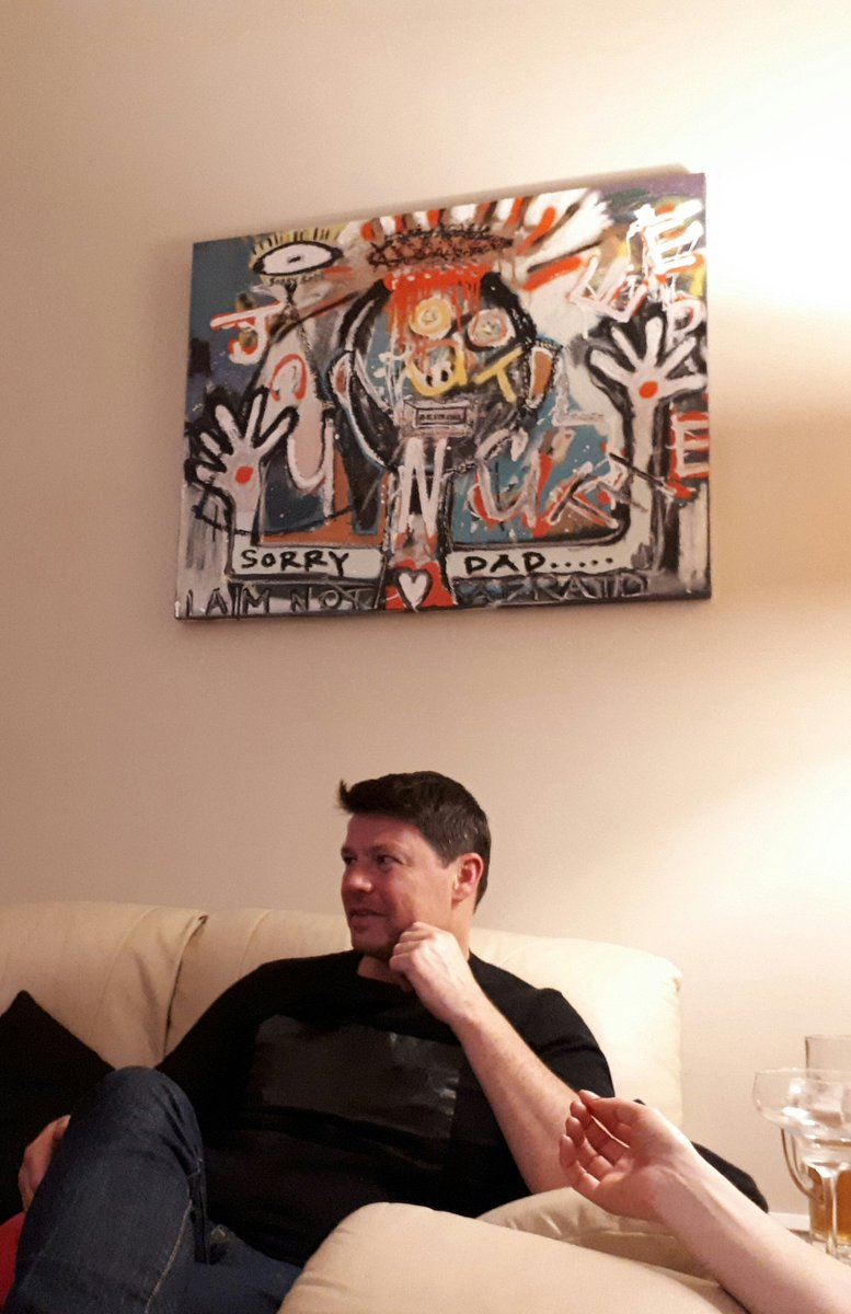 Great to see one of my paintings in-situ in a happy buyers house #pigsy #ireland #irishart #art #basquiat #artist #architect #dad #family<br>http://pic.twitter.com/spE9zXboMQ