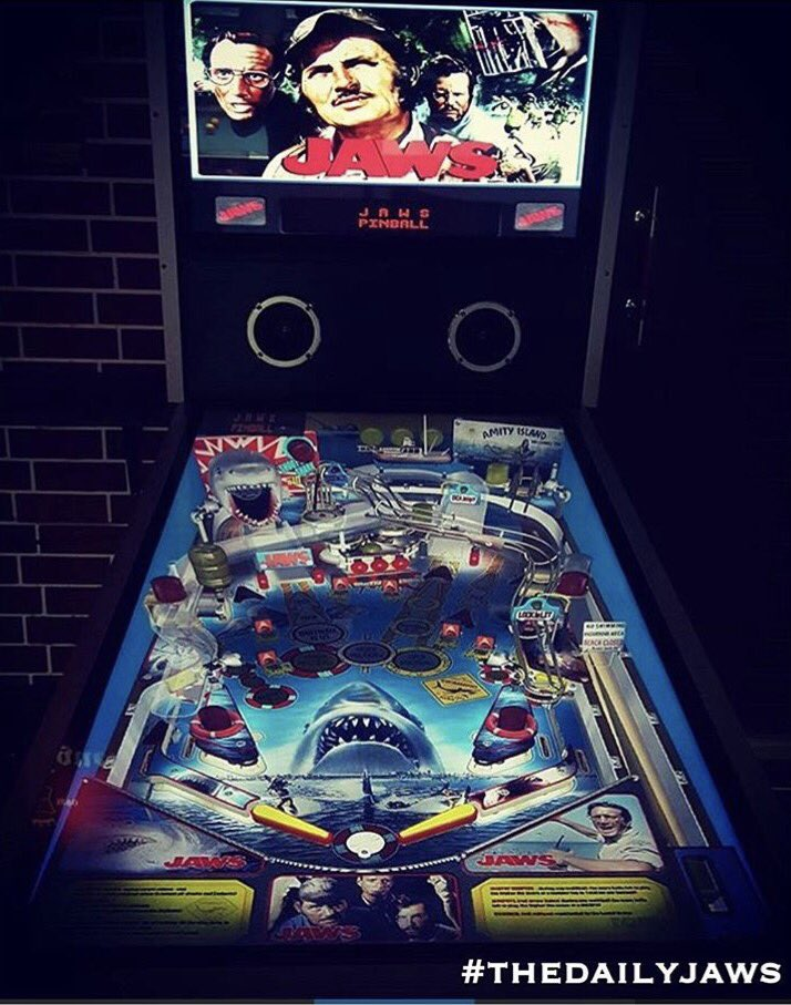 RETWEET if you need this in your life!  #jaws #sharks #shark #pinball #film #movie #game #play<br>http://pic.twitter.com/HnroSNjKoX