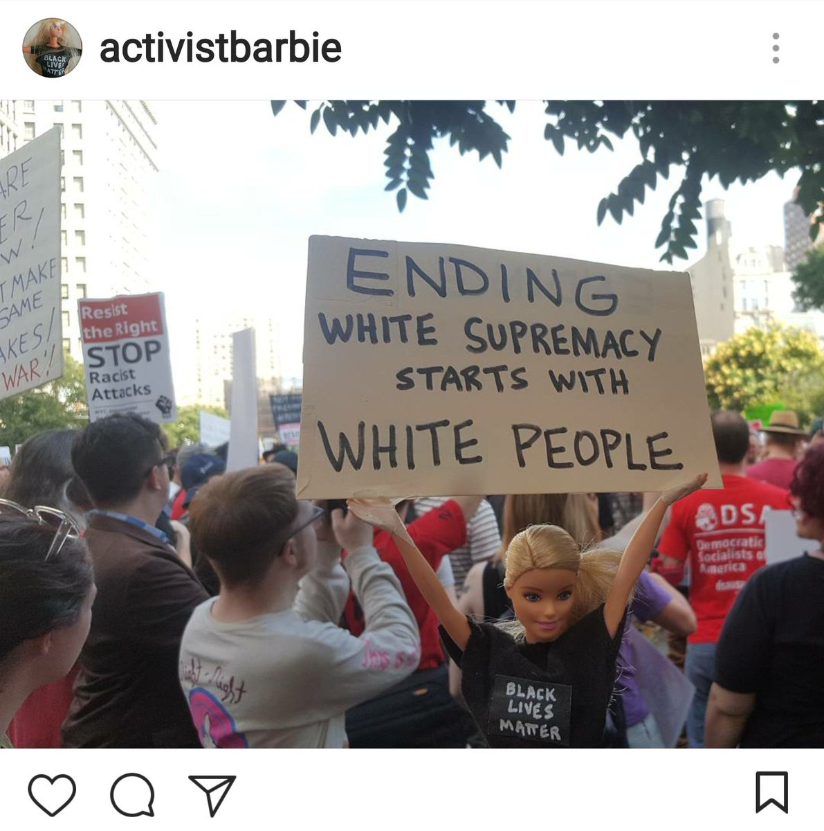 Ending white supremacy starts with white people. If you see racism, no matter how subtle or blatant, call it out. https://t.co/fATyCvBZoM
