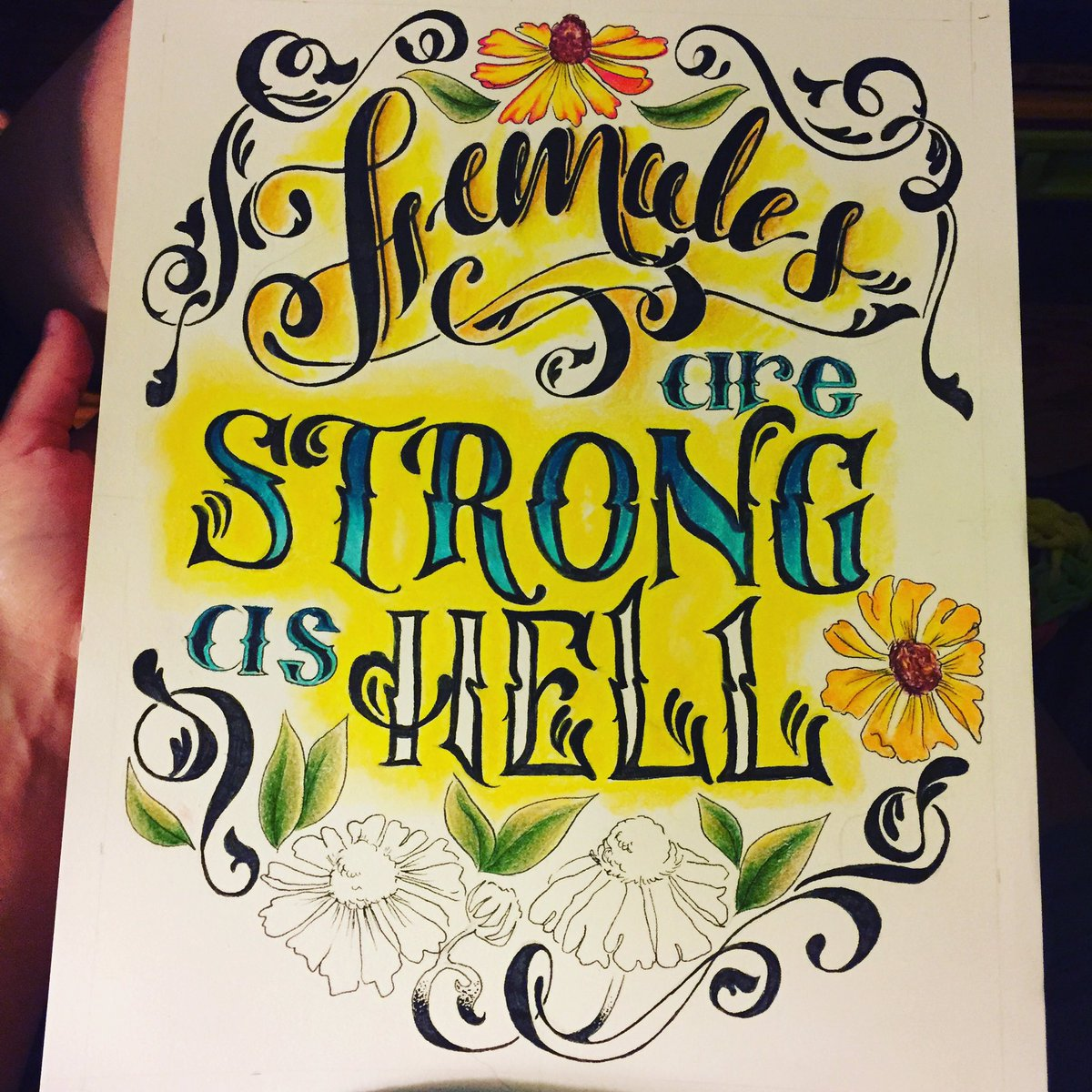 Strong ladies may be frowned upon by some but that doesn&#39;t mean it&#39;s wrong #itellmyself  #unbreakablekimmyschmidt #bestrong #ladypower<br>http://pic.twitter.com/GdcvcNTsyT