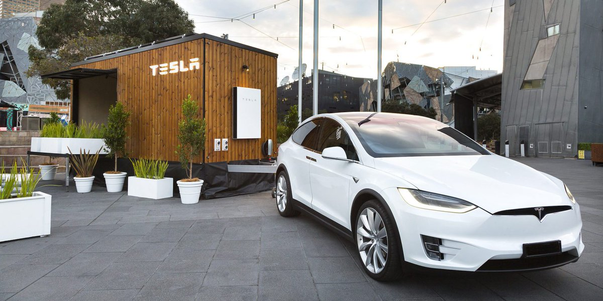 Tesla Powerwalls can support houses of any size, but the cool thing is we can tow this house around with a Model X!