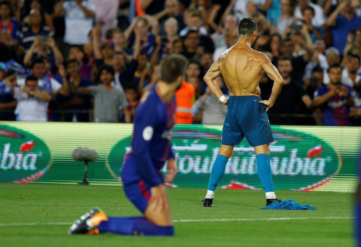 What a way to start the season. This picture is gold. #HalaMadrid #ElClásico <br>http://pic.twitter.com/H695sCjW57