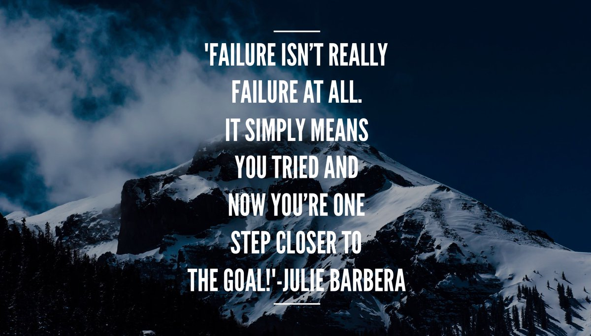 &#39;#Failure isn&#39;t really failure at all.It simply means you tried and now you&#39;re one step closer to the #goal ! #try #ThinkBIGSundayWithMarsha<br>http://pic.twitter.com/Hz0MNVHm6c