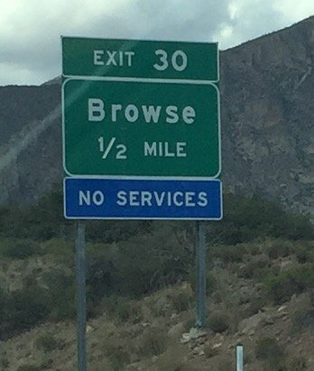 This actual sign in Utah would be apropos for many bio databases that are supposedly open. #openscience #opendata<br>http://pic.twitter.com/vu8EawB23g