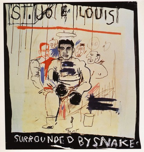 St. Joe Louis Surrounded Snake #fineart #basquiat <br>http://pic.twitter.com/hMf2OW95hd