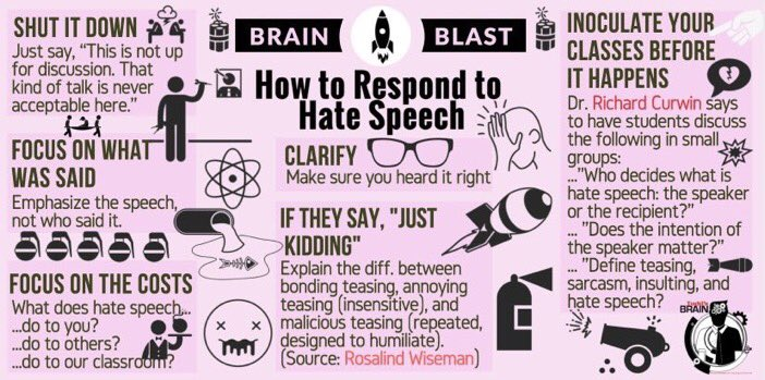 How to Respond to Hate Speech in the Classroom  (by @finleyt) #edchat #education #elearning #edtech #sunchat #engchat #mathchat<br>http://pic.twitter.com/6edUtMjItj