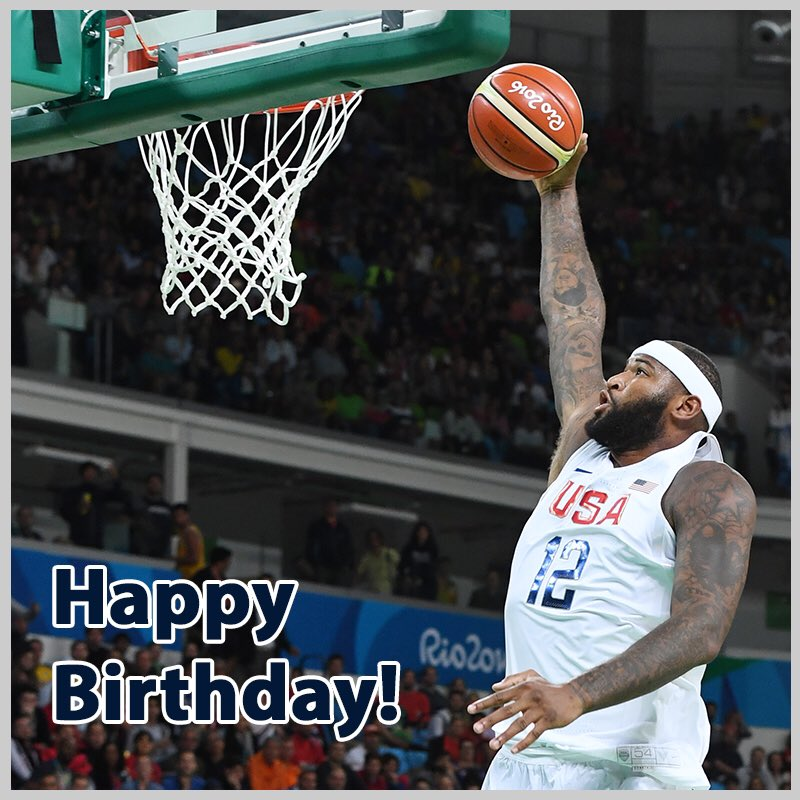Wishing a happy birthday to DeMarcus Cousins!