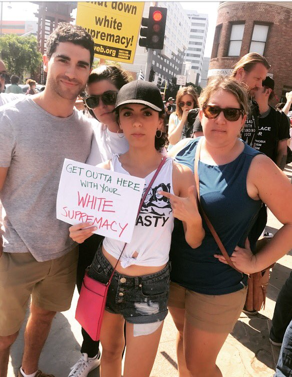 We refuse to normalize death at the hands of Nazis. Thank you @LACity &amp; #CityHall for a peaceful, passionate protest. <br>http://pic.twitter.com/s1Dfis2oNb