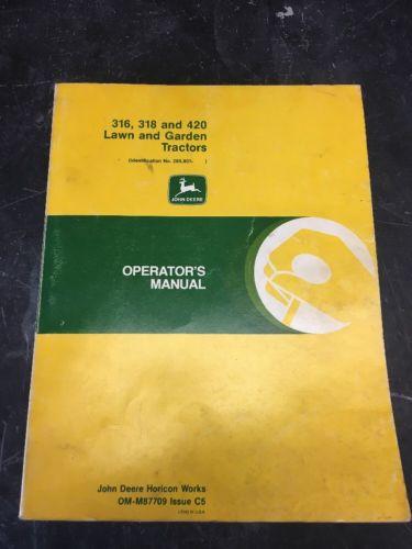 John Deere 316 manual