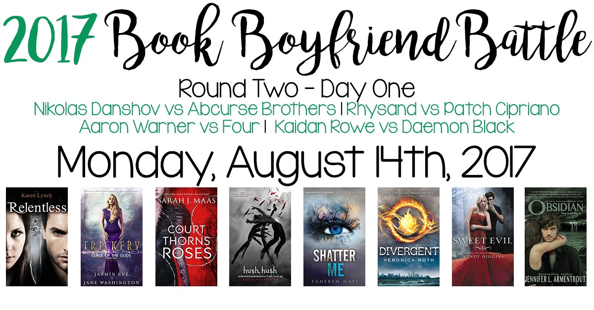 Round TWO of the Book Boyfriend Starts at Midnight (EST)! Polls can be found on our blog starting then:  http://www. mereadalot.net  &nbsp;   #BBB17 <br>http://pic.twitter.com/YpELpOM8XD