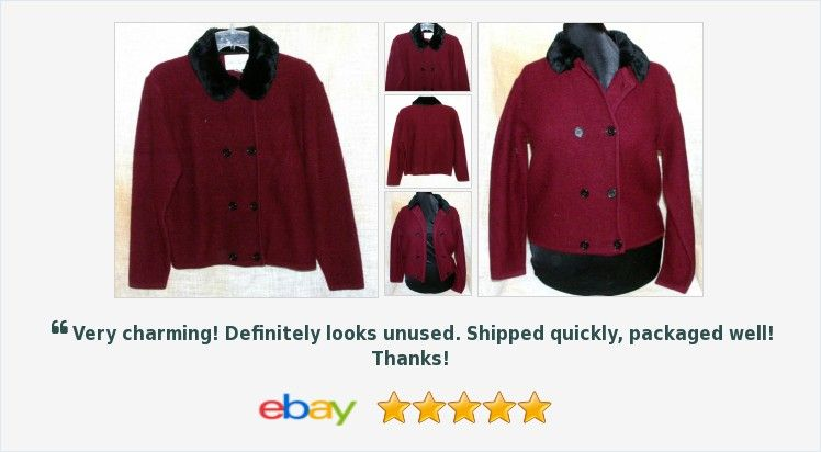 Lord &amp; Taylor Coat Burgundy Fur Collar Size L 100% Wool Button Double Breast | eBay #lord #taylor #forsale  https:// buff.ly/2w1IhRr  &nbsp;  <br>http://pic.twitter.com/pNXcX9QVSk