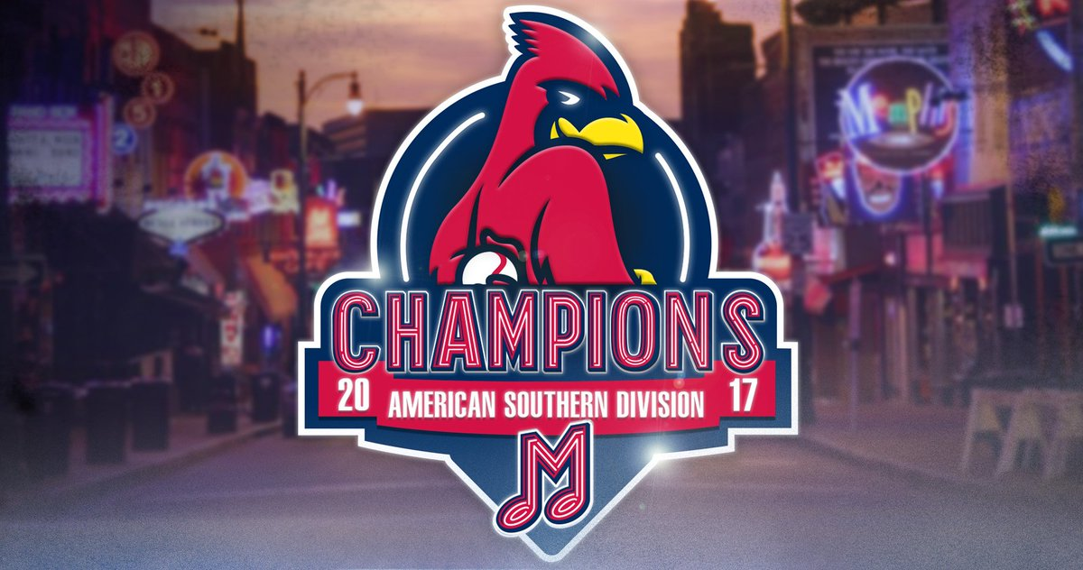 DIVISION CHAMPIONS!  The Redbirds are heading to the playoffs! Postseason baseball returns to @DowntownMemphis!